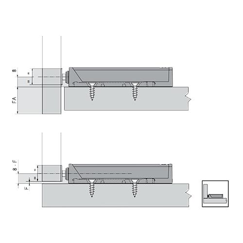 Ответная планка для TIP-ON, для вдавливания, L=10мм