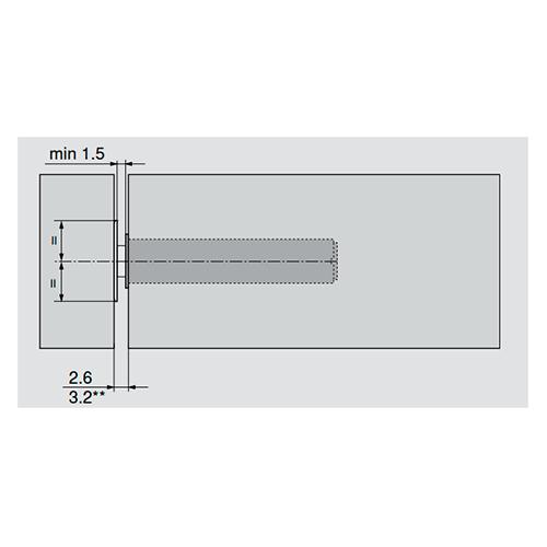 Ответная планка для TIP-ON, никель, самокл.