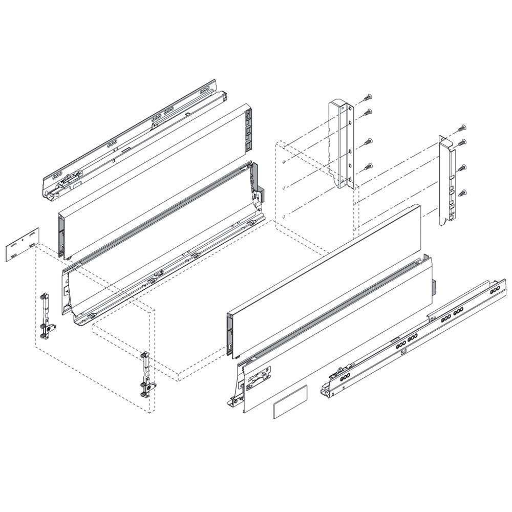 Передняя панель ANTARO/INTIVO L=1036мм, белый шелк