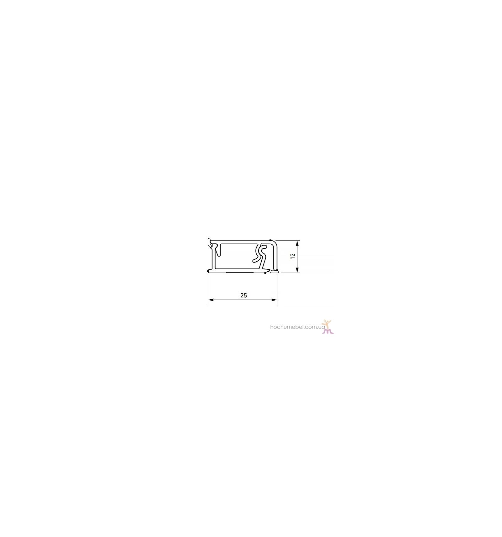 Плинтус Нержавейка H=12мм (алюм.) 4,2м