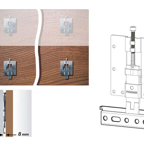 Подвес для настенной панели под саморез (зазор 0мм), верхний