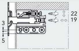 Подвес для полок под запрессовку /антисъемный (+ отв. 897.AS.Z1.60.70), правый