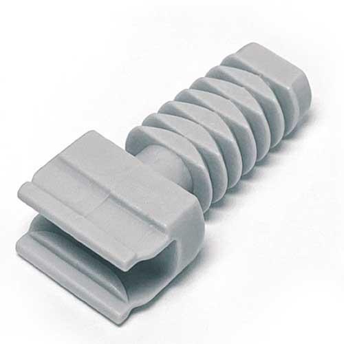 Полкодержатель Ghost mono d=12мм для полок от 16мм (задняя часть), пластик
