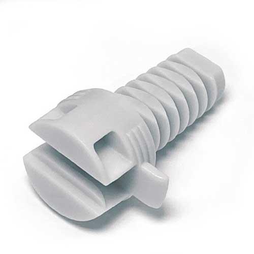 Полкодержатель Ghost mono d=20мм для полок от 25мм (задняя часть), пластик