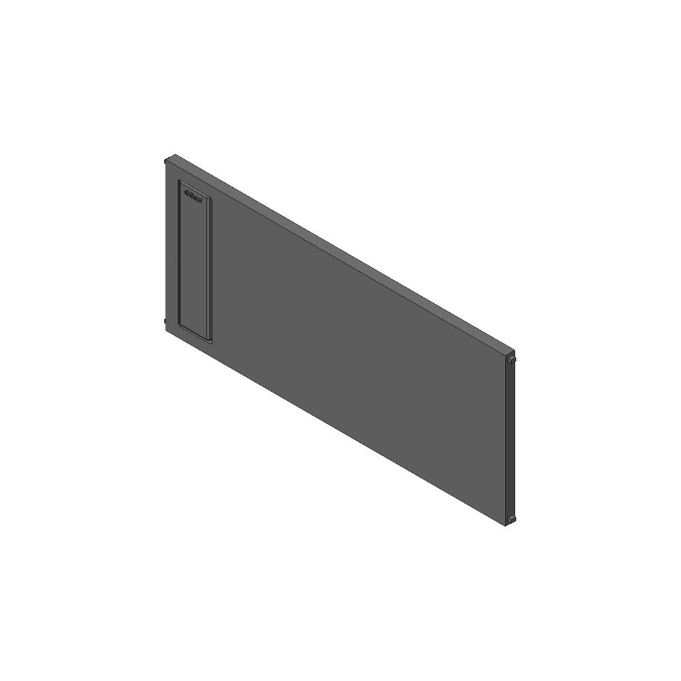 Попереч. раздел. AMBIA-LINE на ящик с высок.фасадом (ZC7F400RSP), терра-черный (пластик)