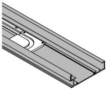 Профиль для компланарной системы 1300мм, алюминий анод. (для крыши/дна)