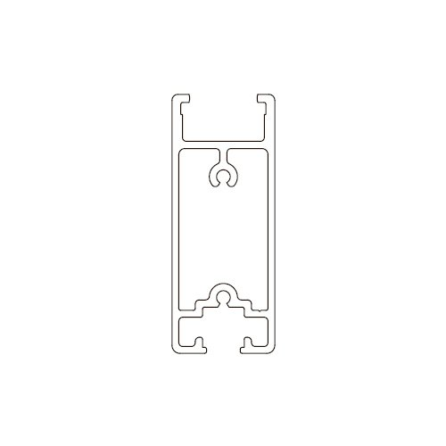 Профиль горизонтальный Universal алюм., под 108\T\120, 6м