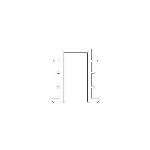 Профиль нижний врезной 3м, серый (пластик) (для гида арт. 267)
