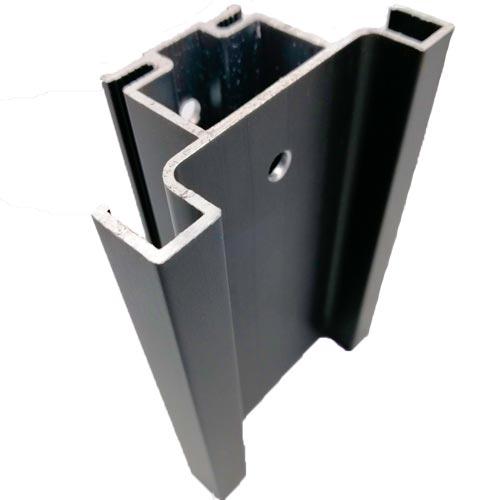 Профиль-ручка Gola 4400мм, вертикальная, двухсторонняя, черный браш (алюм.)
