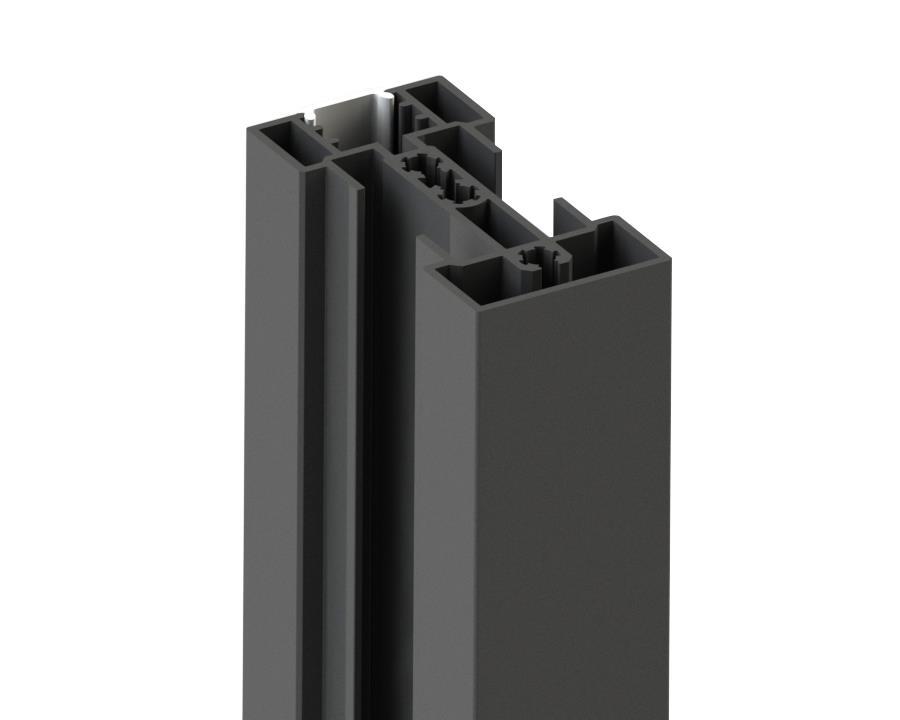 Профиль вертикальный 4,8м, черный (анодированный)