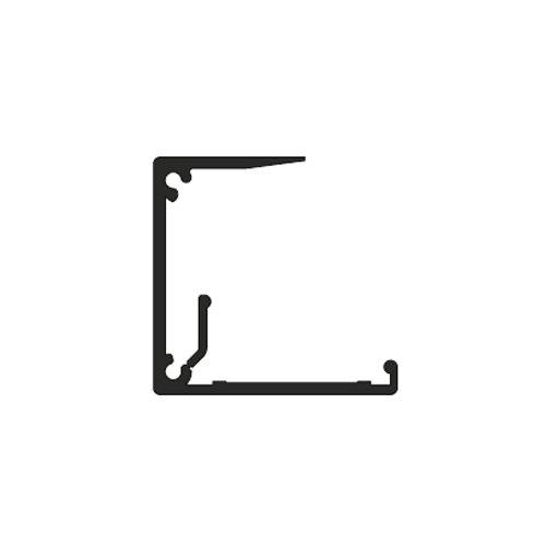 Профиль-заглушка Beta алюм., 5м