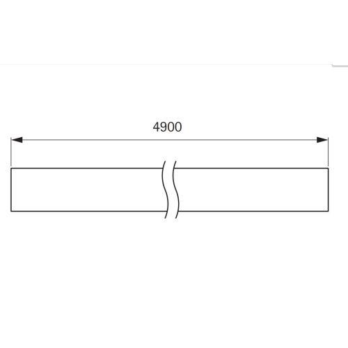 Профиль-заглушка L=4900мм, простая, черный (алюм.)