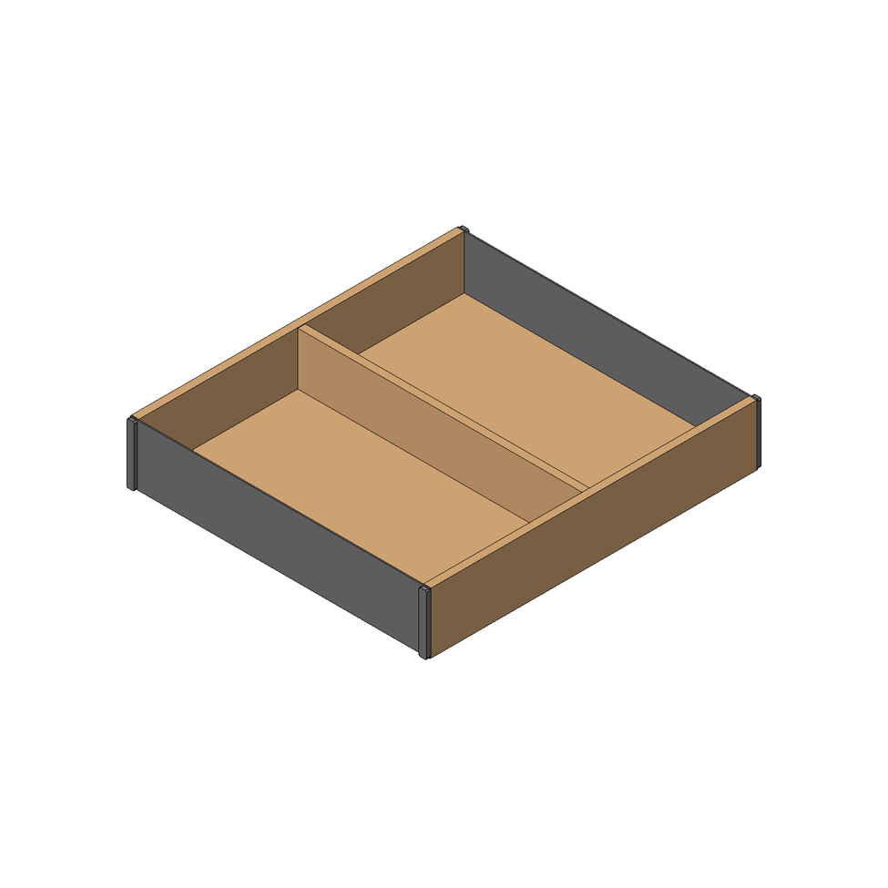 Рама AMBIA-LINE для LEGRABOX стандарт.ящик, L=270мм, шир.=242мм, Орех Теннесси/черный
