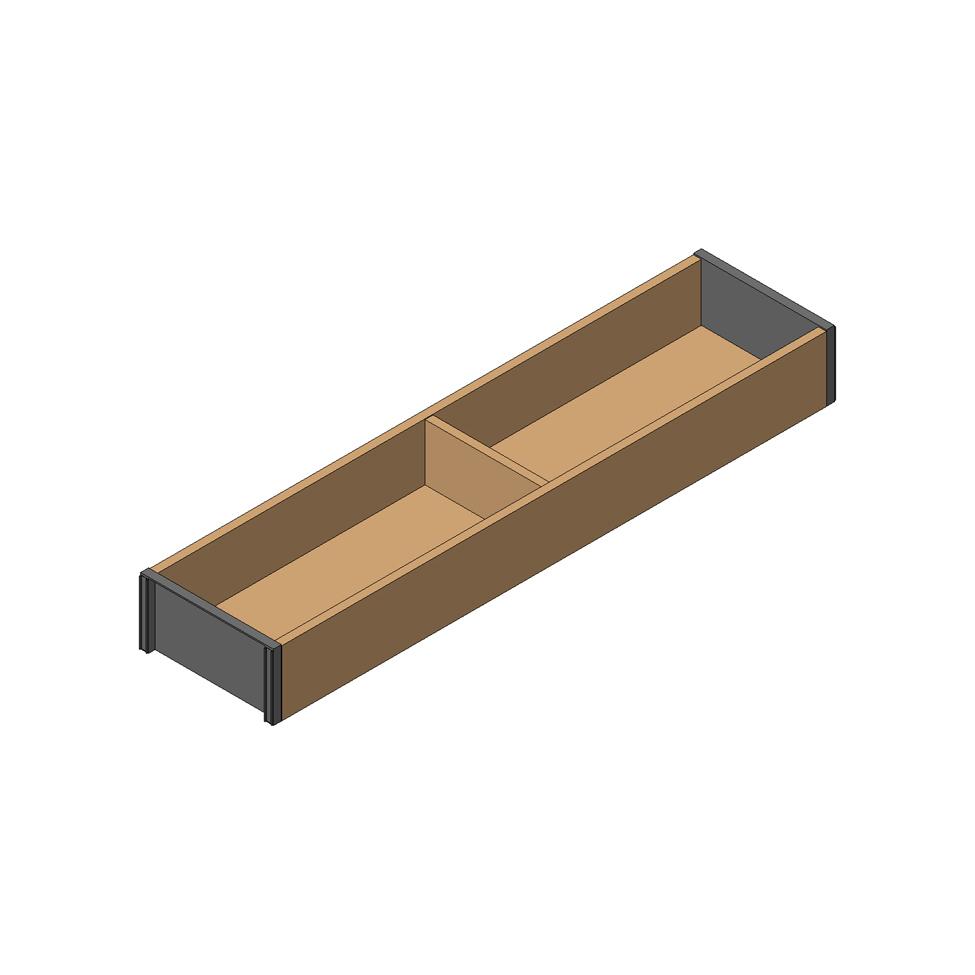 Рама AMBIA-LINE для LEGRABOX стандарт.ящик, L=450мм, шир.=100мм, Дуб Бардолино/белый