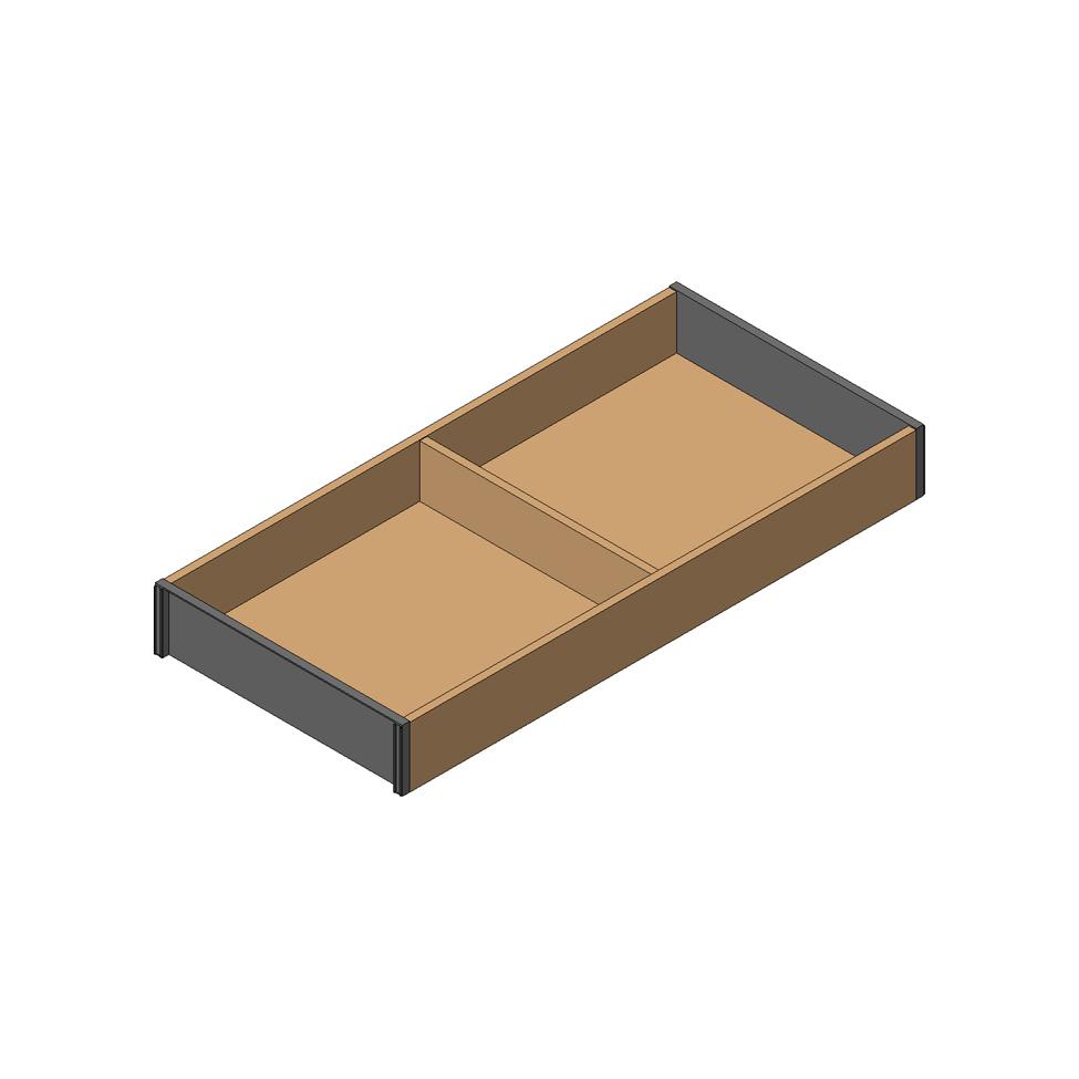 Рама AMBIA-LINE для LEGRABOX стандарт.ящик, L=450мм, шир.=200мм, Дуб Небраска/ОРИОН