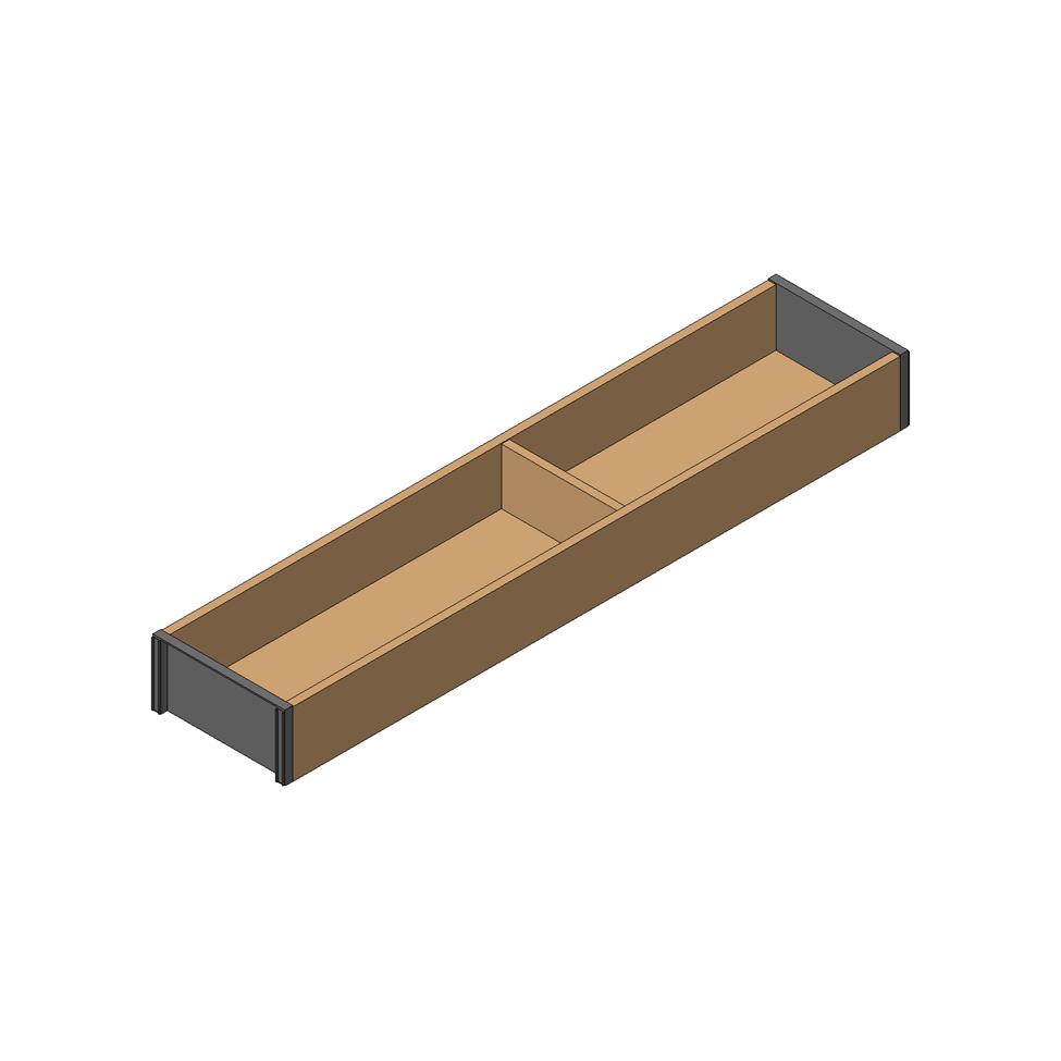 Рама AMBIA-LINE для LEGRABOX стандарт.ящик, L=500мм, шир.=100мм, Орех Теннесси/черный
