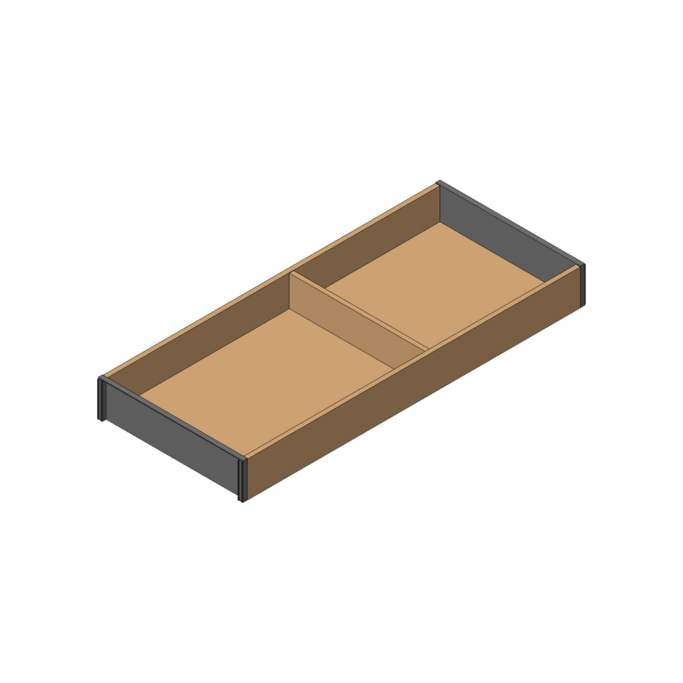 Рама AMBIA-LINE для LEGRABOX стандарт.ящик, L=500мм, шир.=200мм, Орех Теннесси/черный