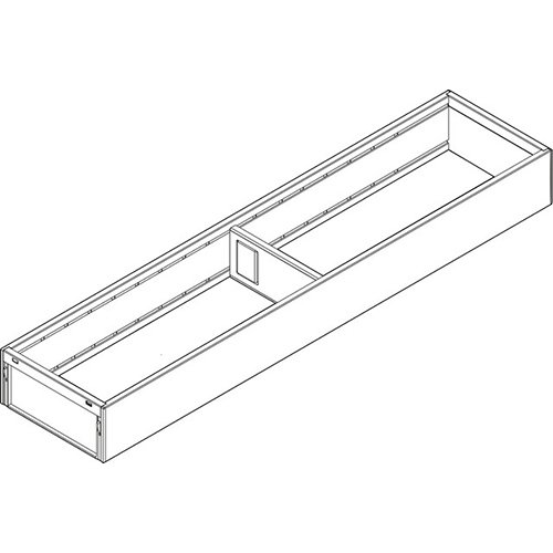 Рама AMBIA-LINE для LEGRABOX стандарт.ящик, сталь, L=550мм, шир =100 мм, белый шелк