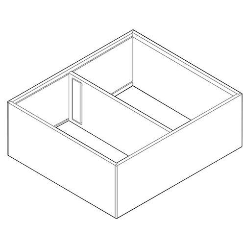 Рама AMBIA-LINE для LEGRABOX, ящик с высок.фасадом, от L=270мм, шир.=242мм, белый шелк