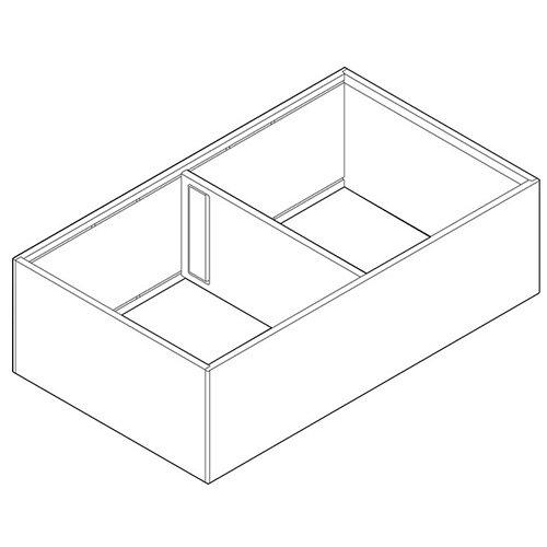 Рама AMBIA-LINE для LEGRABOX, ящик с высок.фасадом, от L=400мм, шир.=218мм, белый шелк