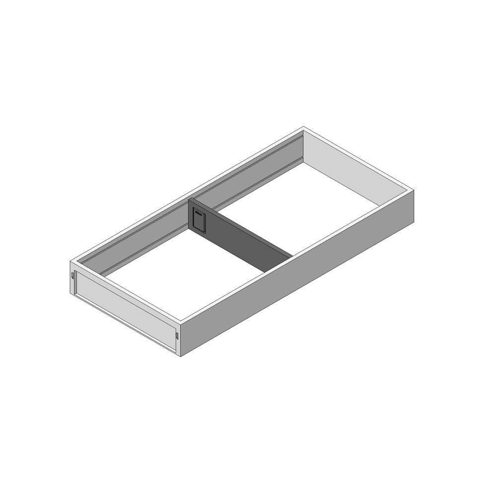 Рама AMBIA-LINE для выдвижного ящика LEGRABOX, сталь, NL = 450 мм, ширина= 200 мм, терра-черный