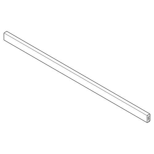 Релинг прямоуг для перед.панели. 1046мм. под раскрой, белый шелк