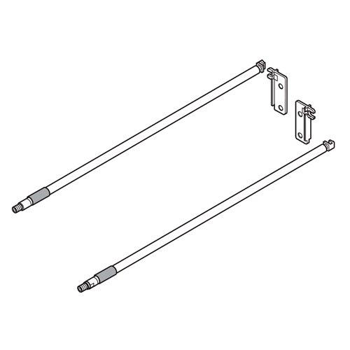 Релинги к MOVENTO/TANDEM L=450мм, (комплект на ящик), никель