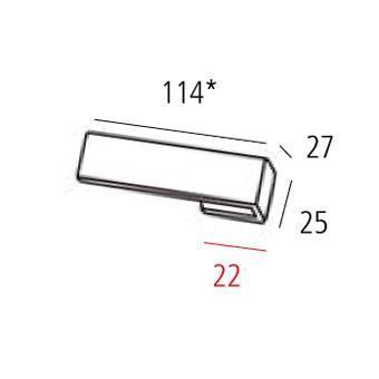 Ручка 114х25мм, хром полированный
