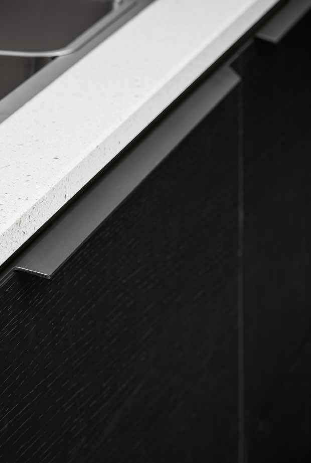 Ручка BLAZE 396х35,5х12,4мм, черный браш (снято с производства)