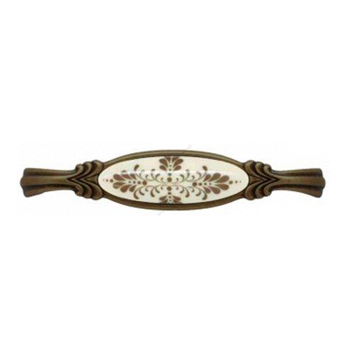 Ручка бронза кантри /фарфор L=148мм, м/о 128мм
