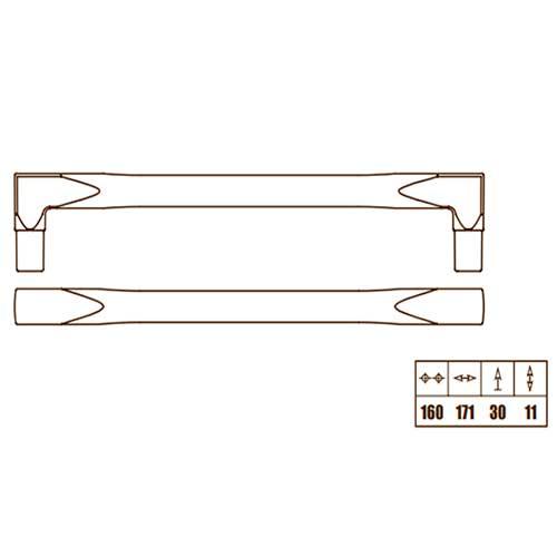 Ручка черное железо винтаж, м/о 160мм
