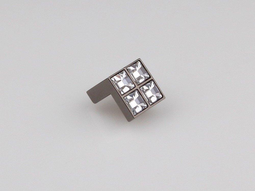 Ручка черный никель/кристалл м/о 16мм