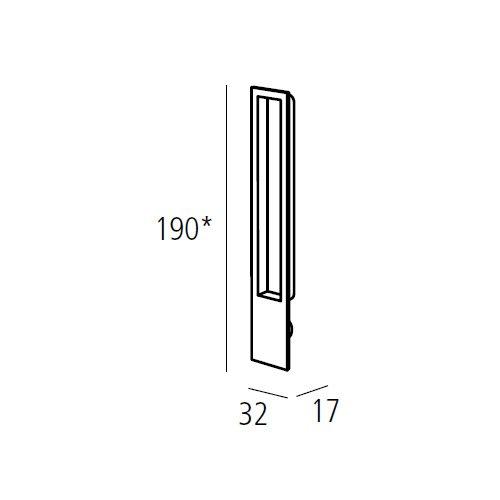 Ручка для раздвижных дверей, алюминий