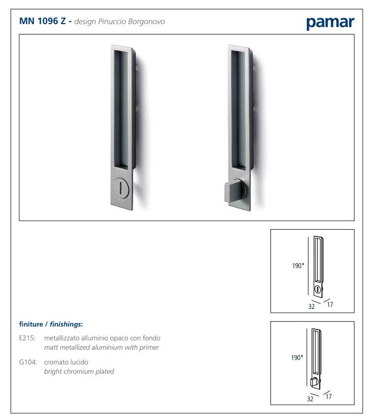 Ручка для раздвижных дверей WC, алюминий