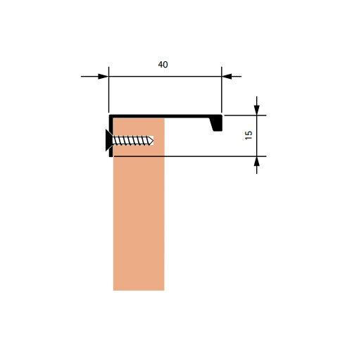 Ручка EDN накладная L=398мм, хром полир. (алюм)
