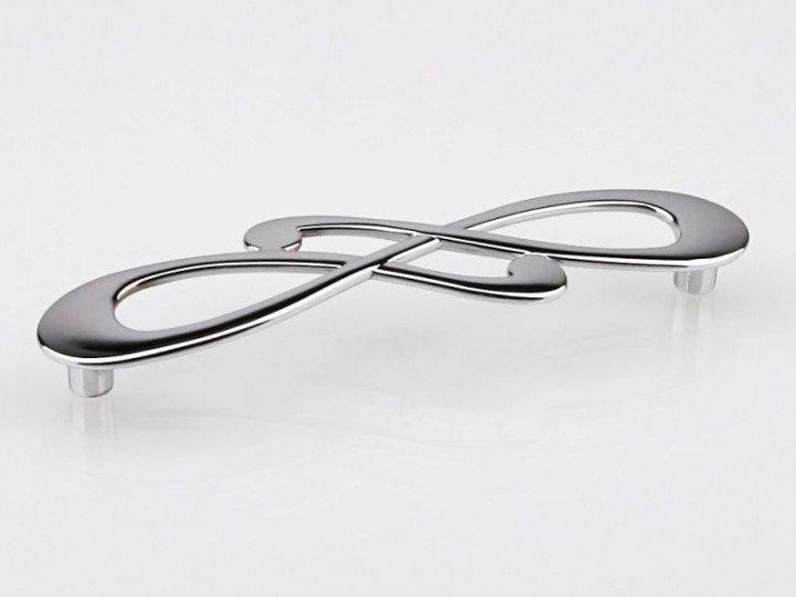 Ручка хром пол. L=148мм, м/о 128мм