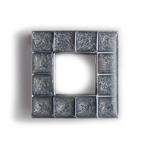 Ручка хром пол./кристалл серебр.вкрапл. L=49мм, м/о 32мм