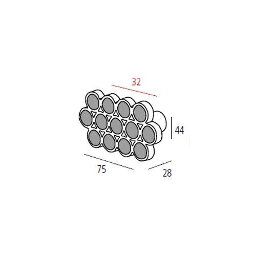 Ручка хром пол./кругл.кристалл м/о 32мм