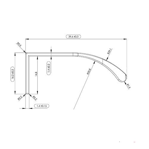 Ручка JAZZ 1196,2х39,6х16,2мм, м/о 12/95,67мм, нерж.