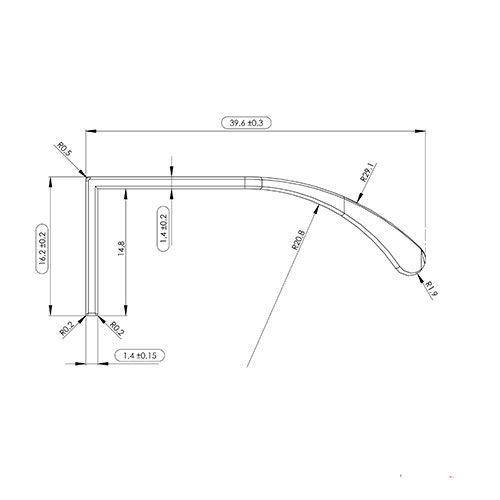 Ручка JAZZ 396,2х39,6х16,2мм, м/о 3/116мм, нерж.