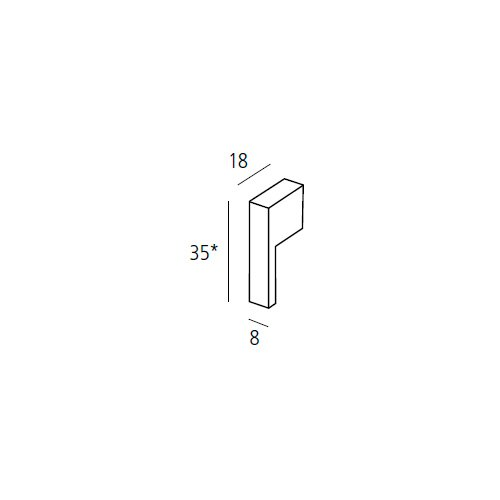 Ручка-кнопка 35х8х18мм, хром пол.