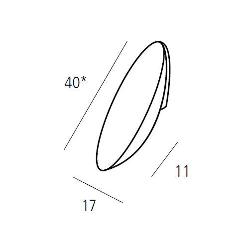 Ручка-кнопка 40х17х11мм, хром пол.