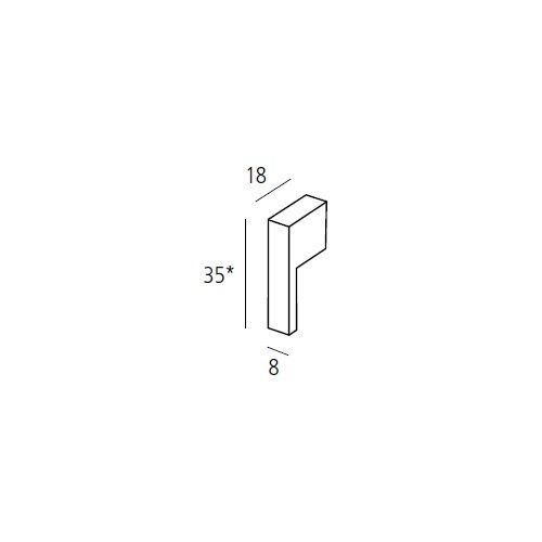 Ручка-кнопка 80х12х34мм, алюминий