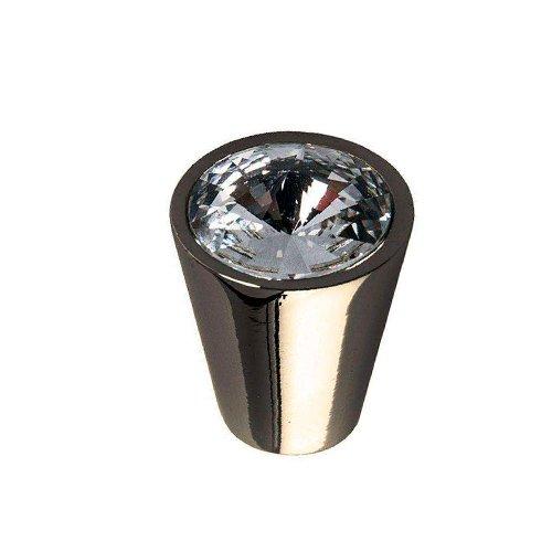 Ручка-кнопка черн.никель/кристалл d17х24мм