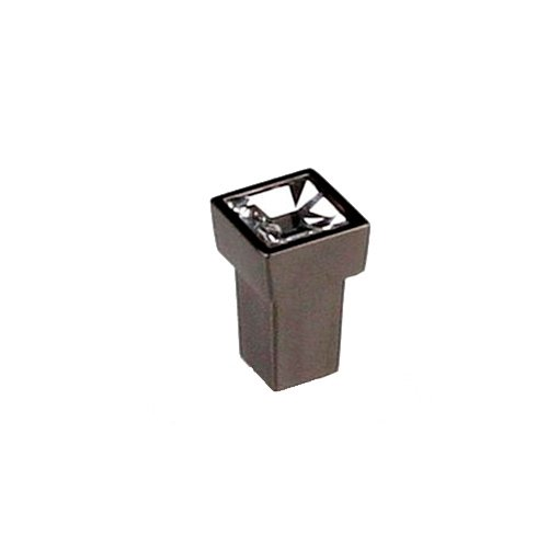 Ручка-кнопка черный никель/кристалл
