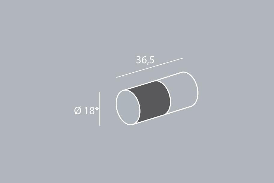 Ручка-кнопка d=18мм, хром пол./дуб темн.