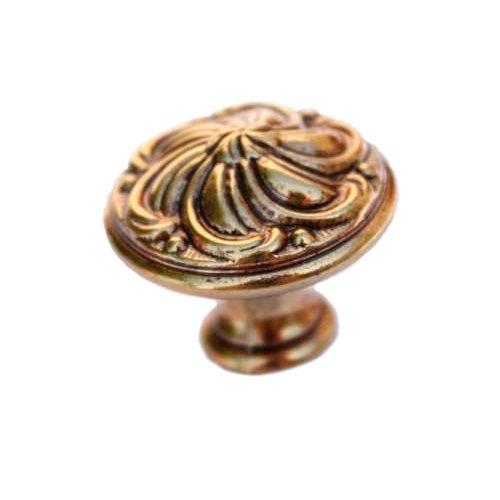 Ручка-кнопка d=30 мм, старая бронза