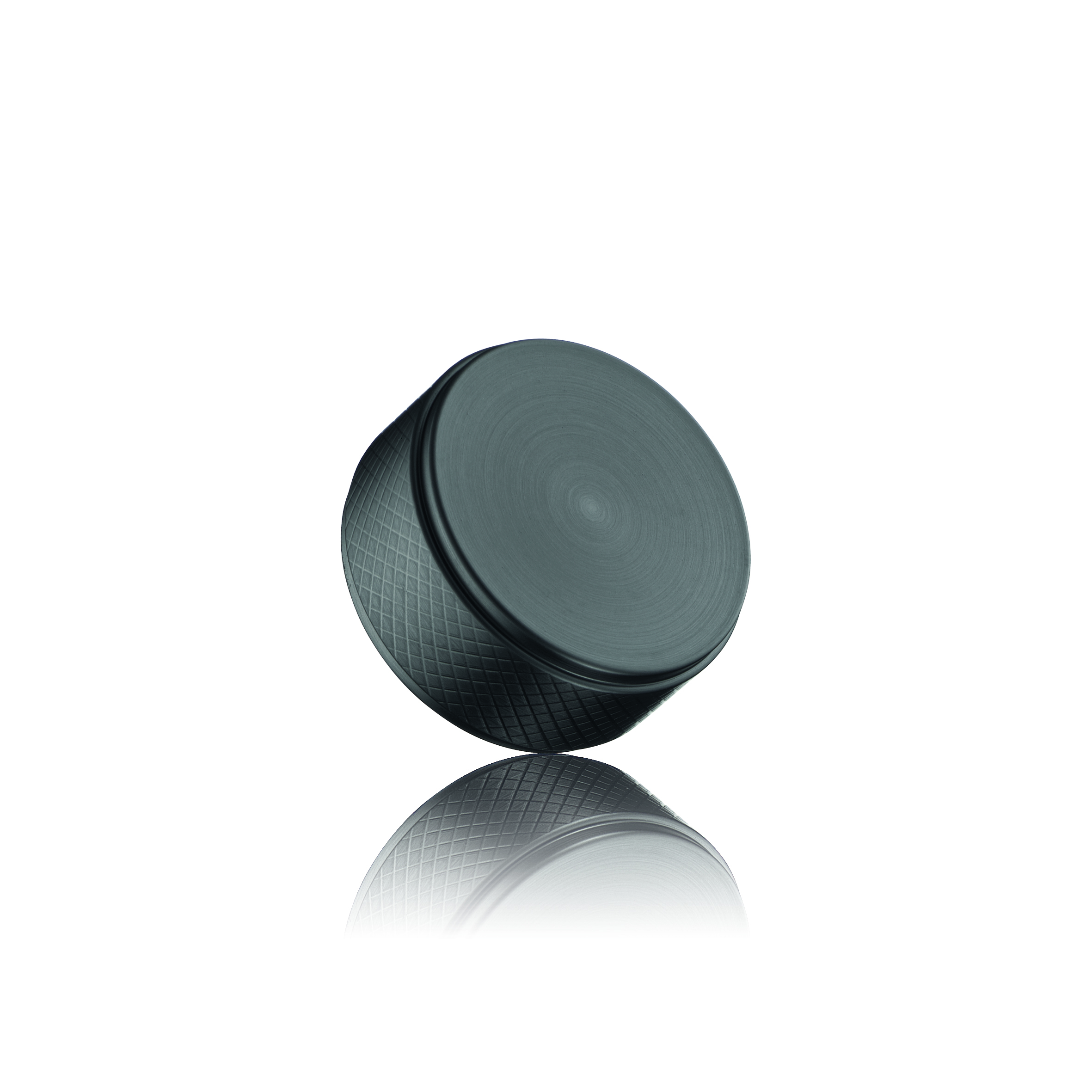 Ручка-кнопка HARLEQUIN MINI d34х16мм, черный мат.