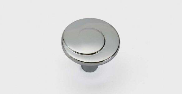 Ручка-кнопка хром пол. 30х20мм