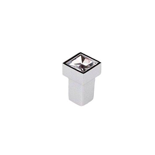 Ручка-кнопка хром пол./кристал